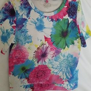 Justice Shirts & Tops - Vibrant flowered Justice blouse